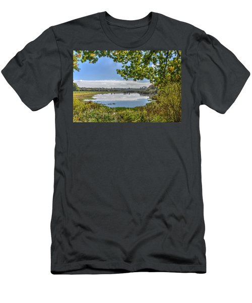 Forest Lake Through The Trees Men's T-Shirt (Athletic Fit)