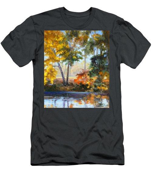 Forest Park - Autumn Reflections Men's T-Shirt (Slim Fit) by Irek Szelag