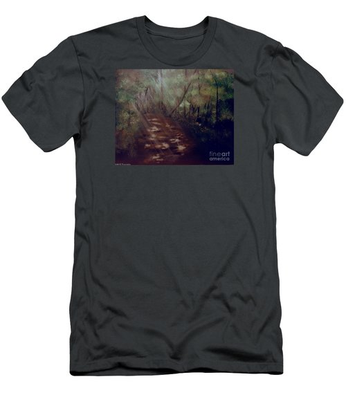 Men's T-Shirt (Slim Fit) featuring the painting Forest Rays by Denise Tomasura