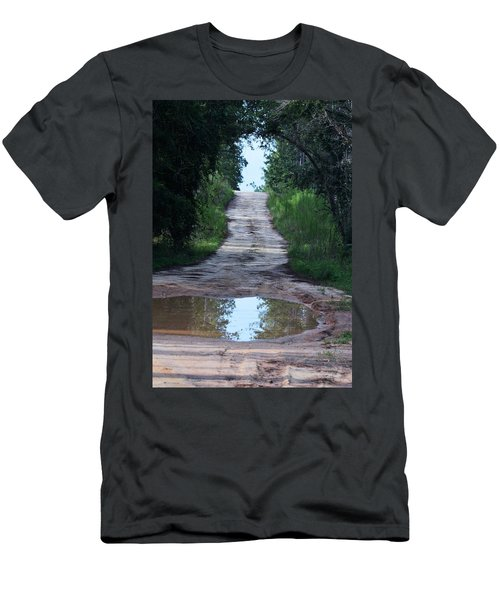 Forest Road And Puddle Men's T-Shirt (Athletic Fit)
