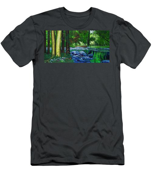 Forest Stream Men's T-Shirt (Slim Fit) by Michael Frank