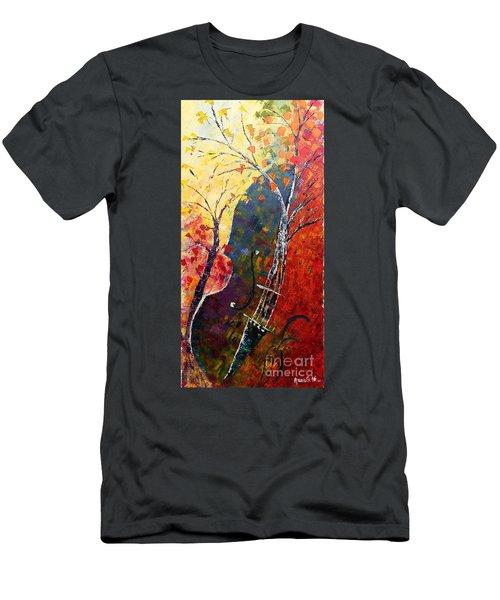 Forest Symphony Men's T-Shirt (Slim Fit) by AmaS Art