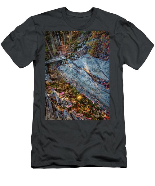 Forest Tidal Pool In Granite, Harpswell, Maine  -100436-100438 Men's T-Shirt (Athletic Fit)