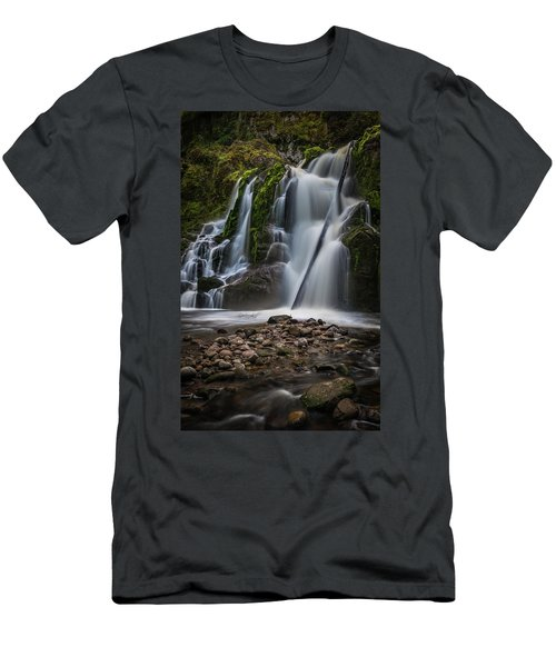 Forest Waterfall Men's T-Shirt (Slim Fit) by Chris McKenna