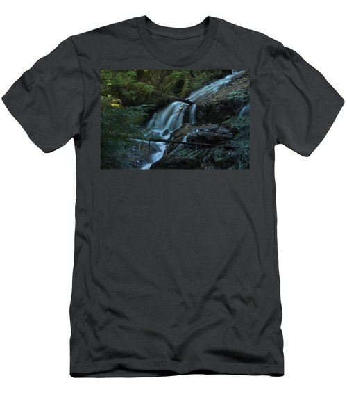 Forest Waterfall. Men's T-Shirt (Athletic Fit)
