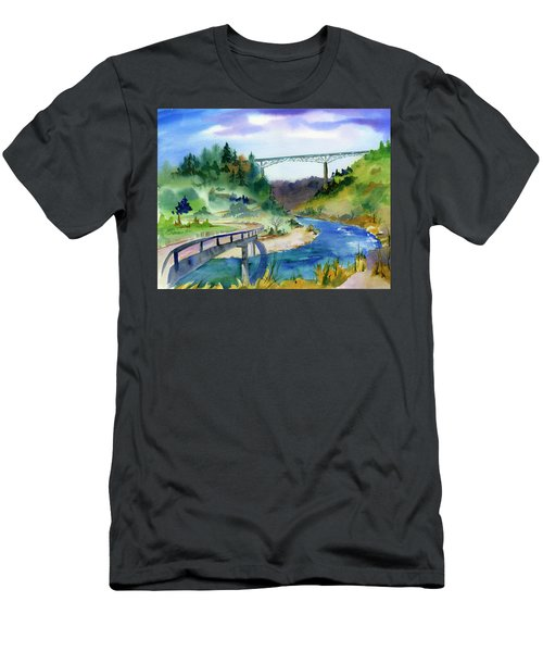 Foresthill Bridge #2 Men's T-Shirt (Athletic Fit)