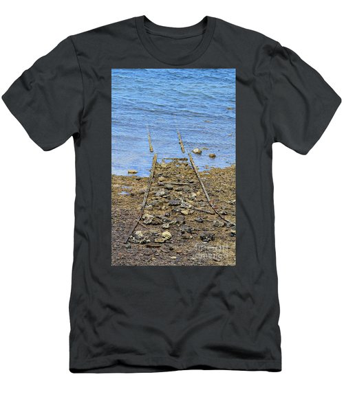 Men's T-Shirt (Slim Fit) featuring the photograph Forgotten Line by Stephen Mitchell