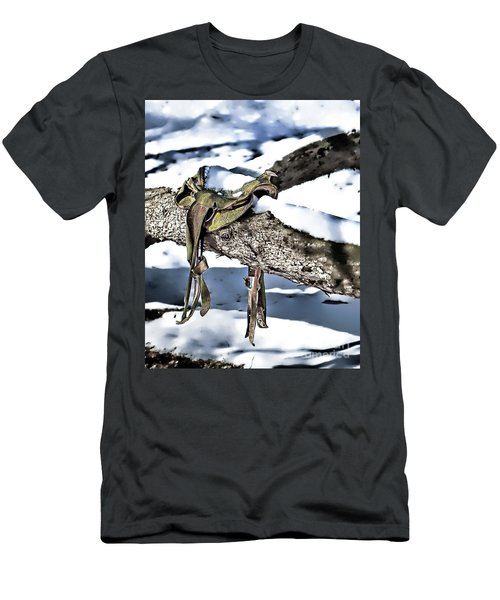 Forgotten Saddle Men's T-Shirt (Slim Fit) by Nicki McManus