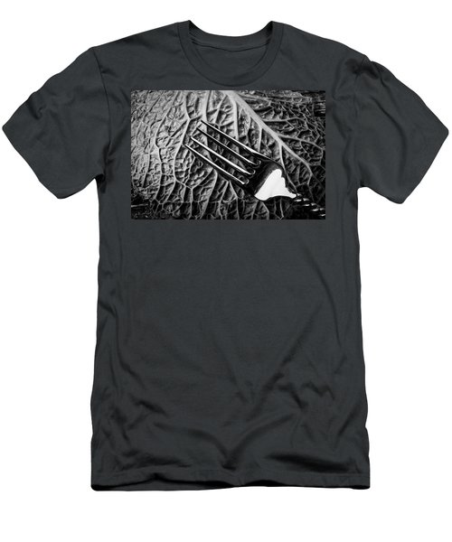 Fork And Cabbage Leaf Men's T-Shirt (Athletic Fit)