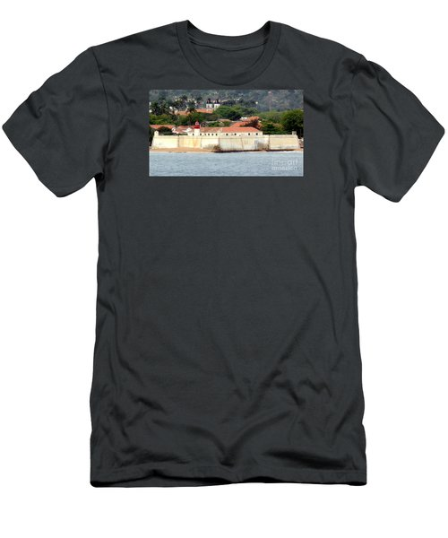 Fort At Sao Tome W. Africa Men's T-Shirt (Slim Fit) by John Potts