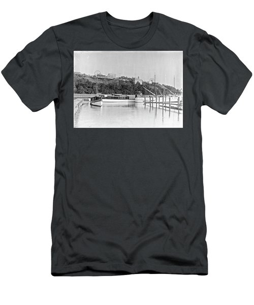 Fort George Amusement Park Men's T-Shirt (Slim Fit) by Cole Thompson