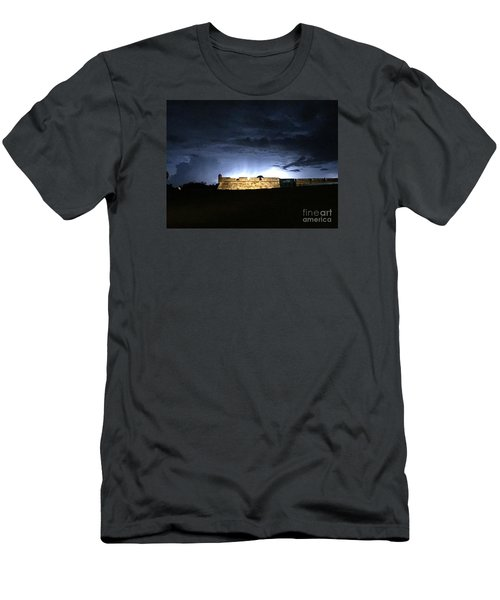 Lightening At Castillo De San Marco Men's T-Shirt (Athletic Fit)
