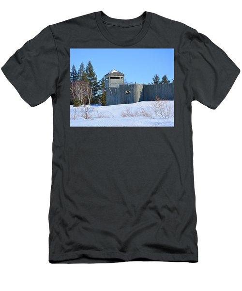 Fort Michilimackinac Northeast Blockhouse Men's T-Shirt (Athletic Fit)