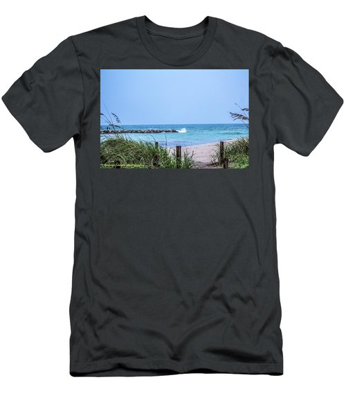 Fort Pierce Inlet Men's T-Shirt (Slim Fit) by Nance Larson