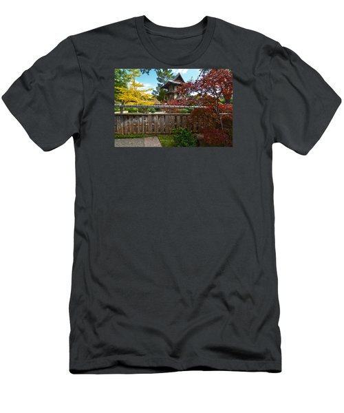 Men's T-Shirt (Slim Fit) featuring the photograph Fort Worth Japanese Gardens 2771a by Ricardo J Ruiz de Porras
