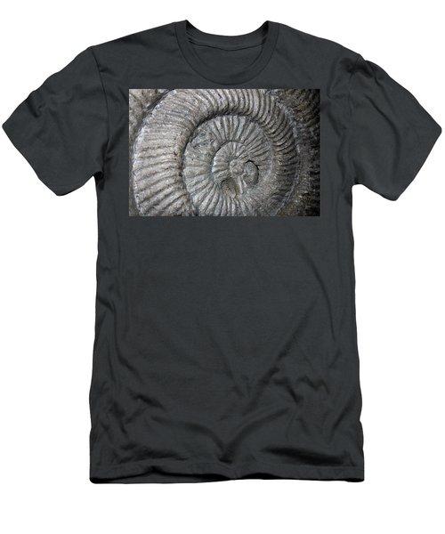 Fossil Spiral  Men's T-Shirt (Slim Fit) by LeeAnn McLaneGoetz McLaneGoetzStudioLLCcom