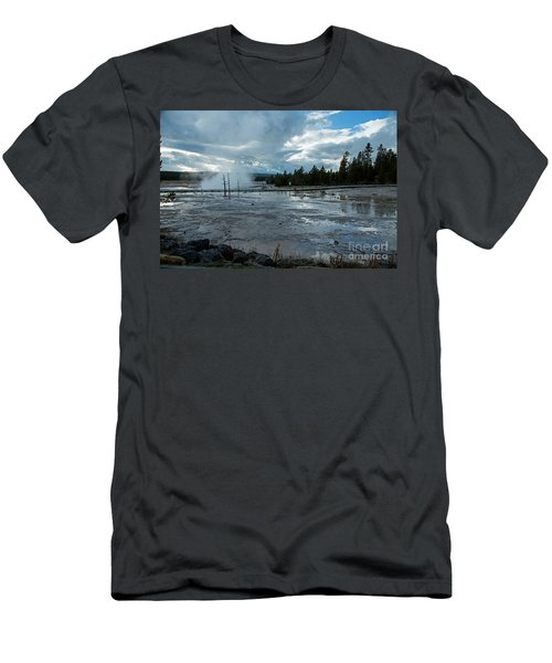 Fountain Paint Pot Area Men's T-Shirt (Slim Fit) by Cindy Murphy - NightVisions