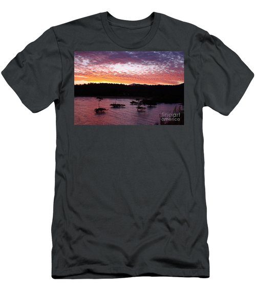 Men's T-Shirt (Slim Fit) featuring the photograph Four Elements Sunset Sequence 3 Coconuts Qld by Kerryn Madsen - Pietsch