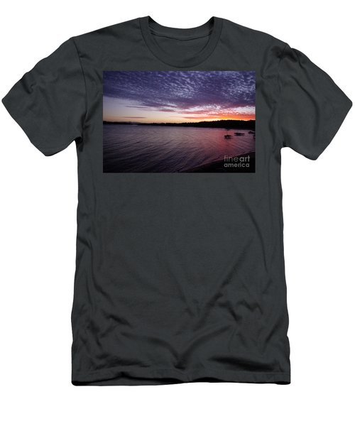 Men's T-Shirt (Slim Fit) featuring the photograph Four Elements Sunset Sequence 4 Coconuts Qld  by Kerryn Madsen- Pietsch