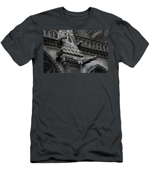 Men's T-Shirt (Slim Fit) featuring the photograph Four Gargoyles On Notre Dame North by Christopher Kirby