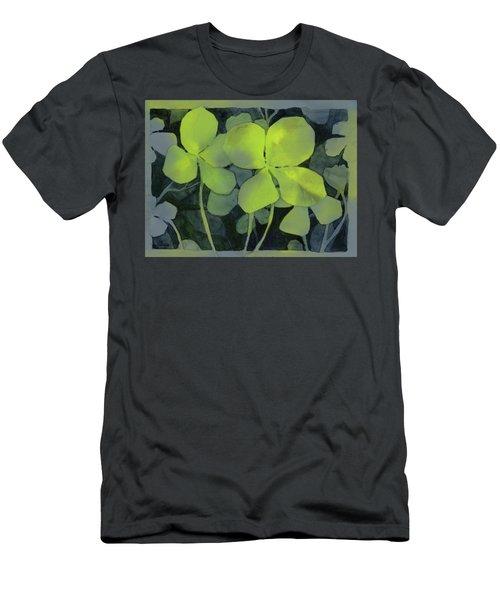 Four Leaf Clover Watercolor Men's T-Shirt (Athletic Fit)