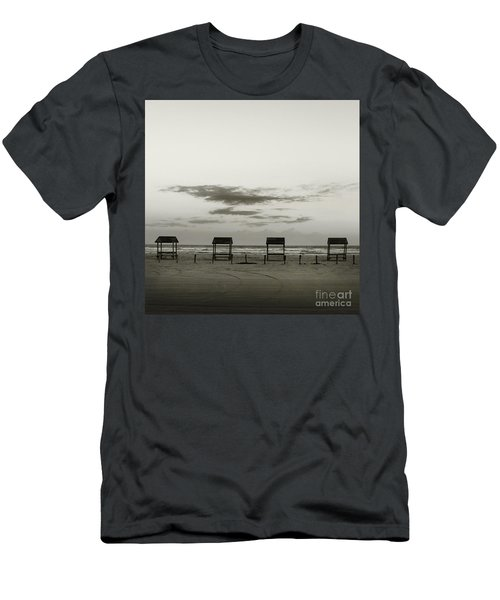 Four On The Beach Men's T-Shirt (Slim Fit) by Sebastian Mathews Szewczyk