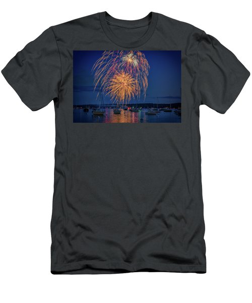 Men's T-Shirt (Athletic Fit) featuring the photograph Fourth Of July In Boothbay Harbor by Rick Berk