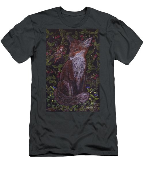 Fox In The Berry Bushes Men's T-Shirt (Athletic Fit)