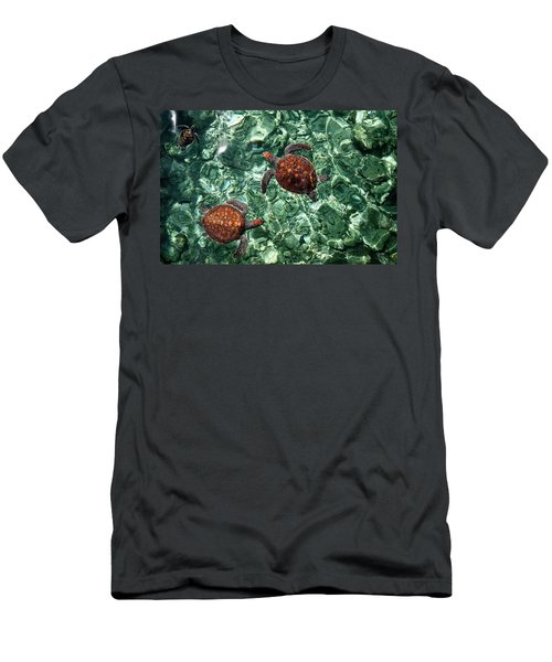 Fragile Underwater World. Sea Turtles In A Crystal Water. Maldives Men's T-Shirt (Athletic Fit)