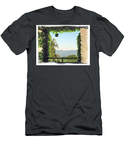 Men's T-Shirt (Slim Fit) featuring the photograph Framing Napa Valley by Joan  Minchak