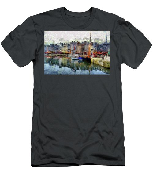 Men's T-Shirt (Athletic Fit) featuring the photograph France Fishing Village by Claire Bull