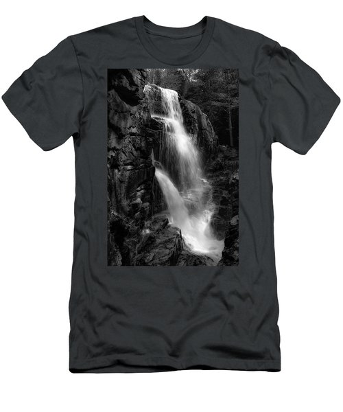 Franconia Notch Waterfall Men's T-Shirt (Athletic Fit)