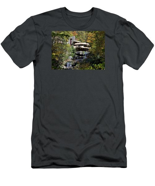 Frank Lloyd Wrights Fallingwater Men's T-Shirt (Slim Fit) by Brendan Reals