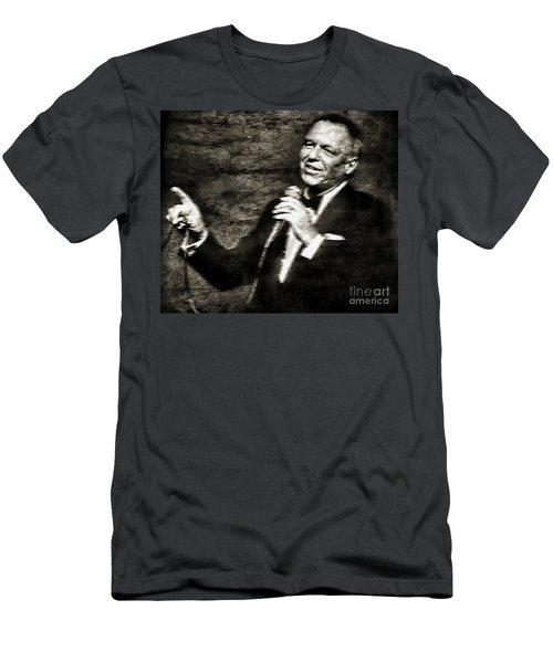 Frank Sinatra -  Men's T-Shirt (Slim Fit) by Ian Gledhill