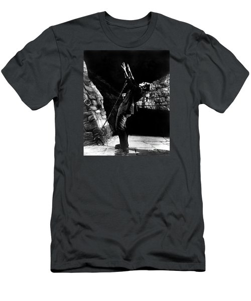 Frankensteins Monster Chained The Castle Played By Boris Karloff Men's T-Shirt (Athletic Fit)