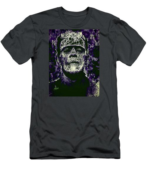 Men's T-Shirt (Athletic Fit) featuring the mixed media Frankenstein by Al Matra