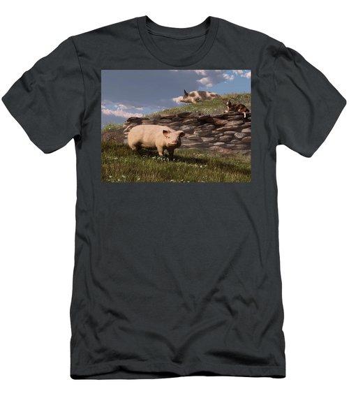 Free Range Pigs Men's T-Shirt (Athletic Fit)