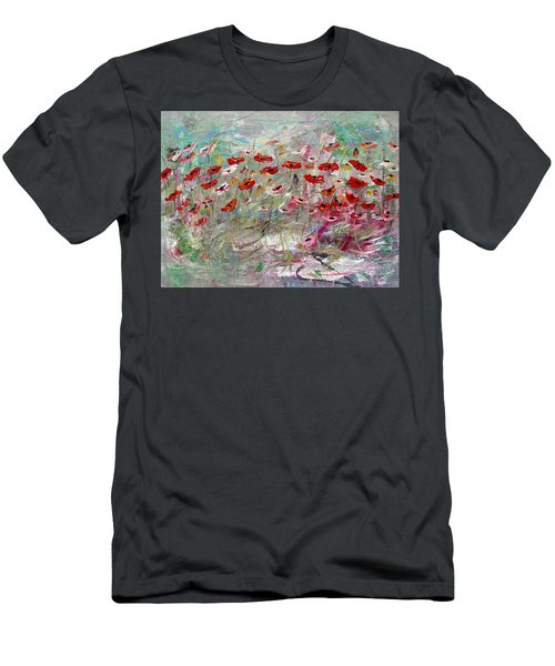 Free Wild Poppies Men's T-Shirt (Athletic Fit)