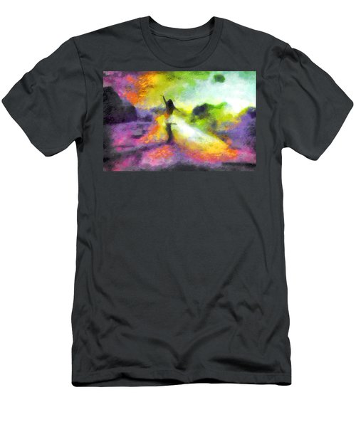 Freedom In The Rainbow Men's T-Shirt (Athletic Fit)