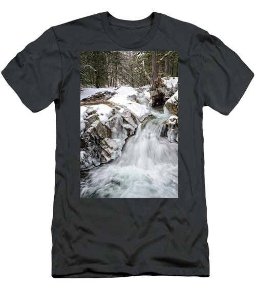 Freeze On The Basin Trail Nh Men's T-Shirt (Athletic Fit)