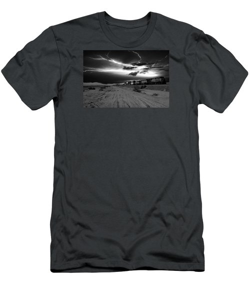 Freight Train Lighting Men's T-Shirt (Athletic Fit)