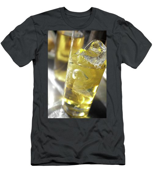 Men's T-Shirt (Slim Fit) featuring the photograph Fresh Drink With Lemon by Carlos Caetano