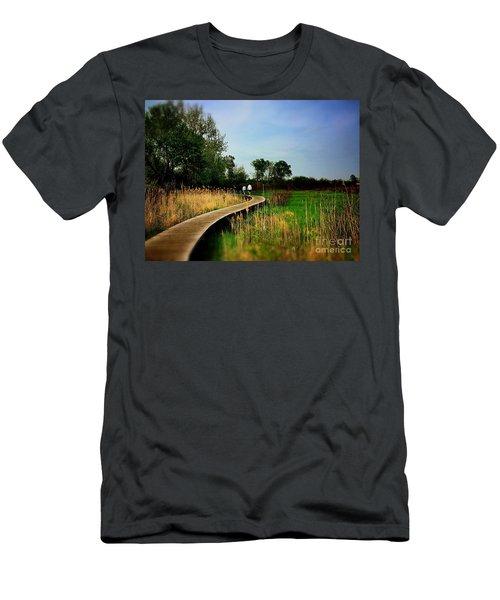 Friends Walking The Wetlands Trail Men's T-Shirt (Athletic Fit)