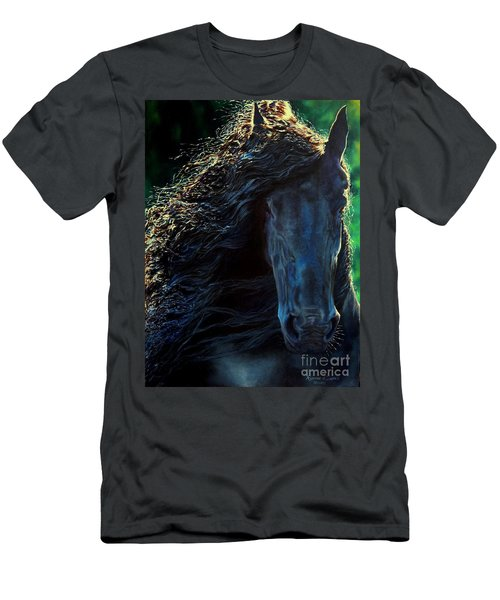 Friesian Glimmer Men's T-Shirt (Slim Fit) by Ruanna Sion Shadd a'Dann'l Yoder
