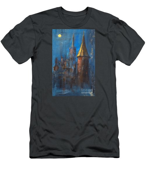 Men's T-Shirt (Slim Fit) featuring the painting From Medieval Times by Arturas Slapsys