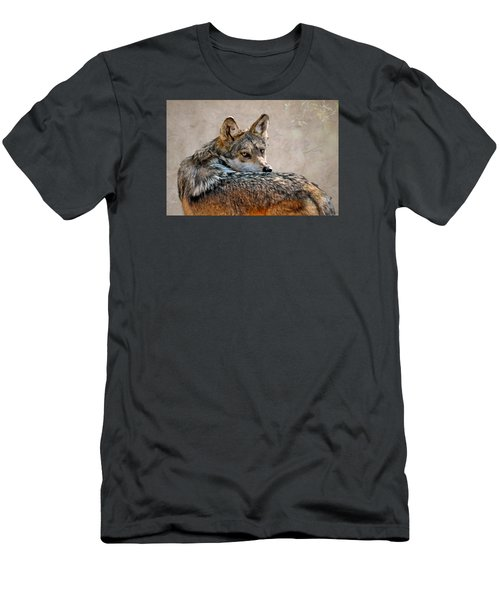 Men's T-Shirt (Slim Fit) featuring the mixed media From Out Of The Mist by Elaine Malott