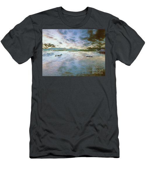 Men's T-Shirt (Athletic Fit) featuring the photograph From The Causeway by Leigh Kemp