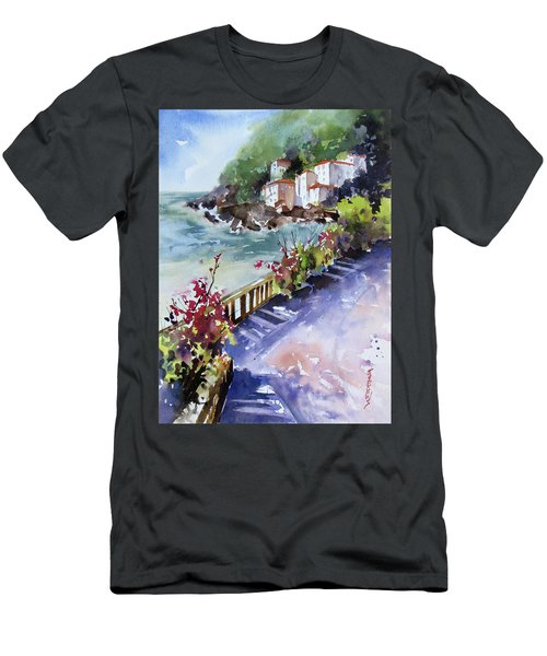 From The Walkway Men's T-Shirt (Slim Fit) by Rae Andrews