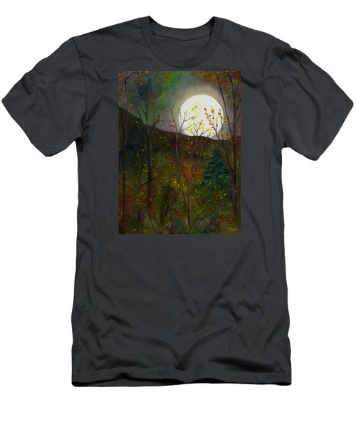 Frost Moon Men's T-Shirt (Slim Fit) by FT McKinstry