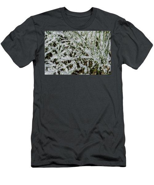 Men's T-Shirt (Slim Fit) featuring the photograph Frosty Grass by Deborah Smolinske